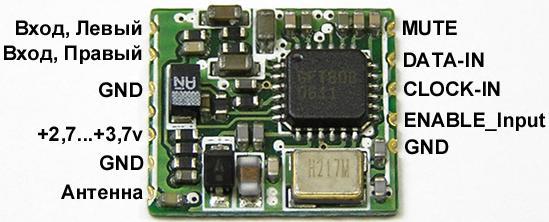 Fm передатчик на микросхеме